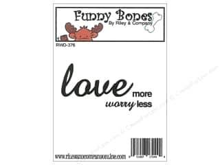 stamps: Riley & Company Cling Stamps Funny Bones Love More