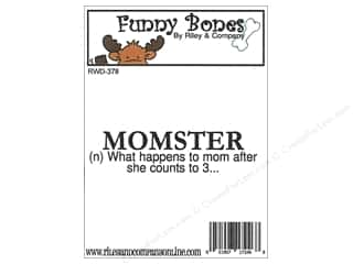 stamps: Riley & Company Cling Stamps Funny Bones Momster