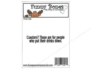 Riley & Company Cling Stamps Funny Bones Coasters