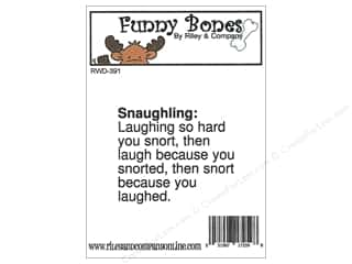 stamps: Riley & Company Cling Stamps Funny Bones Snaughling