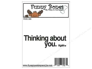 stamps: Riley & Company Cling Stamps Thinking About You