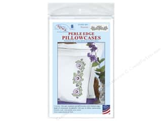 Jack Dempsey Pillowcase Perle Edge White Pansies