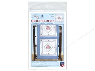 square hoop: Jack Dempsey 18 in. Quilt Blocks 6 pc. Rose