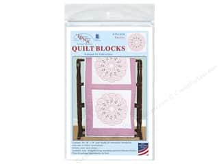 square hoop: Jack Dempsey 18 in. Quilt Blocks 6 pc. Paisley