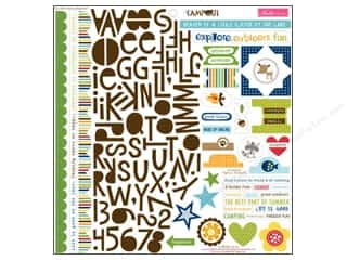 stickers: Bella Blvd Stickers Campout Treasures & Text (12 sets)