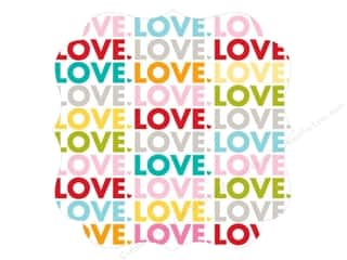 die cuts: Bella Blvd Invisibles Die-Cut Transparency 12 x 12 in. Color Chaos Love (12 sheets)