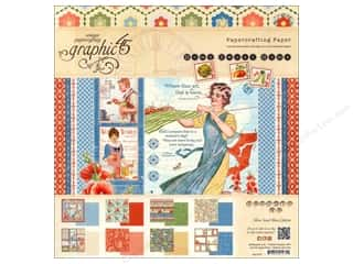 Weekly Specials Graphic 45 Paper Pad: Graphic 45 12 x 12 in. Paper Pad Home Sweet Home