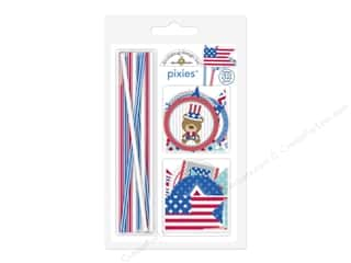 die cuts: Doodlebug Pixies Patriotic Picnic Assorted Red/White/Blue