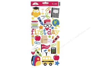 Theme Stickers / Collection Stickers: Doodlebug Back To School Collection Stickers Icon (12 sets)