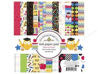 """Bo Bunny Paper Pads 6""""x 6"""": Doodlebug Paper Pad 6 x 6 in. Back To School"""