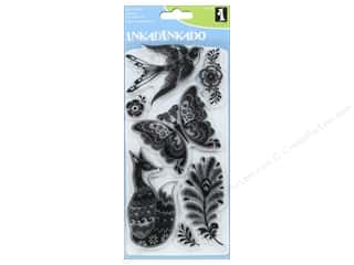 stamps: Inkadinkado Clear Stamp Set Fancy Fauna