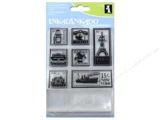 stamps: Inkadinkado Clear Stamp Inchies Bundle Travel Post