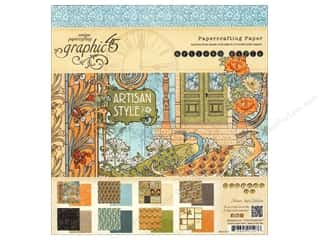 Cardstock  8x8: Graphic 45 8 x 8 in. Paper Pad Artisan Style