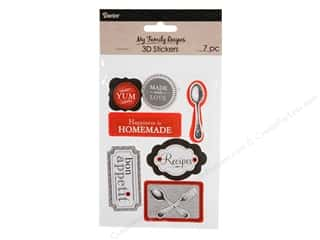 scrapbooking & paper crafts: Darice Sticker Recipe 3D Cutlery Black and Red