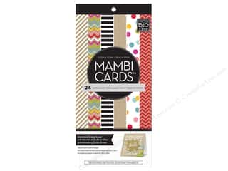 "Clearance Me And My Big Ideas Mini Envelopes: MAMBI Cards In An Instant Card Pad 5.25""x 5.25"" Confetti & Kraft"