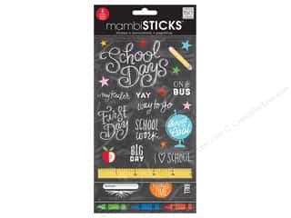 Me&My Big Ideas Sticker Sticks Flip Pack Chalk School Is Cool
