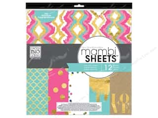 Holiday Sale Designer Papers & Cardstock: Me & My Big Ideas Sheets Cardstock Pad 12 x 12 in. Color Metallic
