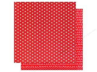 American Crafts 12 x 12 in. Paper Basics Dots Red (12 sheets)