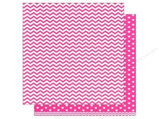 scrapbooking & paper crafts: American Crafts 12 x 12 in. Paper Basics Chevron Pink (12 sheets)
