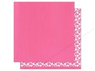 patterned paper: American Crafts 12 x 12 in. Paper Basics Stripes Pink (12 sheets)