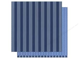 paper blue: American Crafts 12 x 12 in. Paper Basics Stripes Navy (12 sheets)