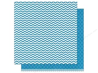 patterned paper: American Crafts 12 x 12 in. Paper Basics Chevron Aqua (12 sheets)