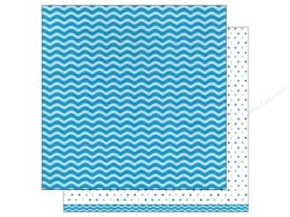 patterned paper: American Crafts 12 x 12 in. Paper Basics Waves Aqua (12 sheets)