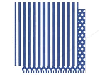 patterned paper: American Crafts 12 x 12 in. Paper Basics Stripe Marine (12 sheets)