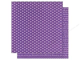 patterned paper: American Crafts 12 x 12 in. Paper Basics Dots Purple (12 sheets)