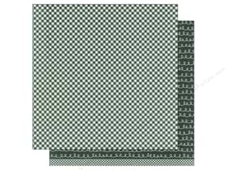 patterned paper: American Crafts 12 x 12 in. Paper Basics Gingham Evergreen (12 sheets)