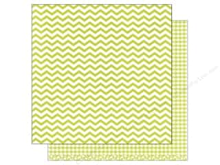 patterned paper: American Crafts 12 x 12 in. Paper Basics Chevron Lime (12 sheets)