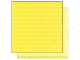 American Crafts 12 x 12 in. Paper Basics Dots Lemon (12 sheets)