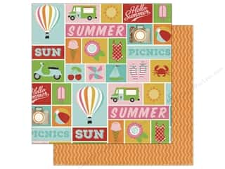 Stock Up Sale Cardstock: Carta Bella 12 x 12 in. Paper Soak Up The Sun Summer Icons (25 sheets)