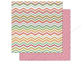 Stock Up Sale Cardstock: Carta Bella 12 x 12 in. Paper Soak Up The Sun Chevron (25 sheets)