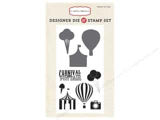 die cutting machines: Carta Bella Designer Die and Stamp Set Soak Up The Sun Carnival Fun