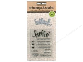love sentiment stamp: Hero Arts Stamp & Cuts Hello