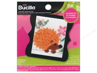 yarn & needlework: Bucilla Counted Cross Stitch Kit 3 in. Mini Hedgehog