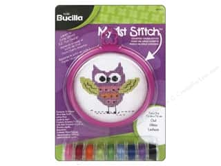 Weekly Specials: Bucilla Counted Cross Stitch Kit 3 in. My 1st Stitch Owl