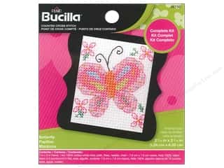 yarn & needlework: Bucilla Counted Cross Stitch Kit 2 1/2 in. Mini Butterfly
