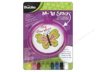 yarn & needlework: Bucilla Counted Cross Stitch Kit 3 in. My 1st Stitch Find Your Wings