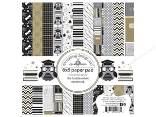 """Bo Bunny Paper Pads 6""""x 6"""": Doodlebug Paper Pad 6 x 6 in. The Graduate"""