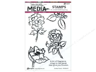 stamps: Ranger Dina Wakley Media Stamp Scribbly Flowers
