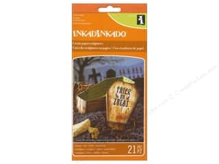 stamps: Inkadinkado Clear Stamp Paper Sculpture Set Coffin