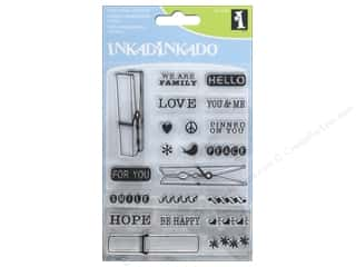 stamps: Inkadinkado Clear Stamp Inchie Bundle Cloth Pins