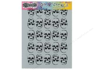 Clearance Sunworks Construction Paper 9 x 12: Ranger Dylusions 9 x 12 in. Stencil Skulls