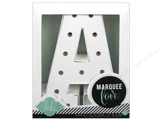 "scrapbooking & paper crafts: Heidi Swapp Marquee Love Letter Kit 8 1/2 in. ""A"""