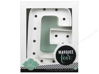 "scrapbooking & paper crafts: Heidi Swapp Marquee Love Letter Kit 8 1/2 in. ""G"""