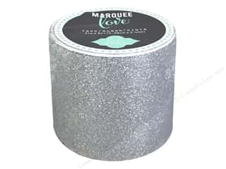 Weekly Specials Scrapbooking Kits: American Crafts Heidi Swapp Marquee Love Glitter Tape 2 in. Silver