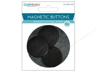 craft & hobbies: Craft Medley Round Magnets 1 1/8 in. 3 pc.