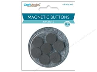 craft & hobbies: Craft Medley Round Magnets 9/16 in. 14 pc.